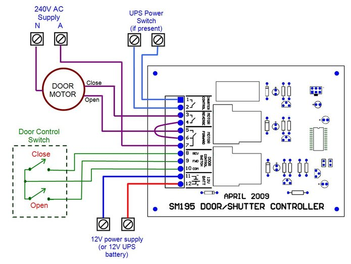 3114497?695 sm195 roller shutter controller 240 Single Phase Wiring Diagram at virtualis.co